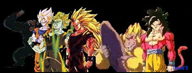 Goku's transormations!