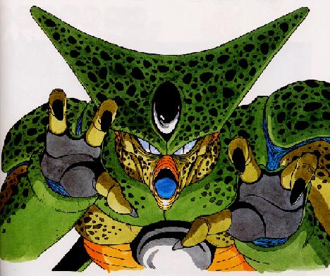 Cell in his first form! Ugly bitch!